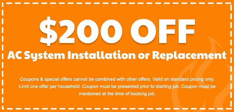 discount on ac system installation or replacement in Edmonton, AB
