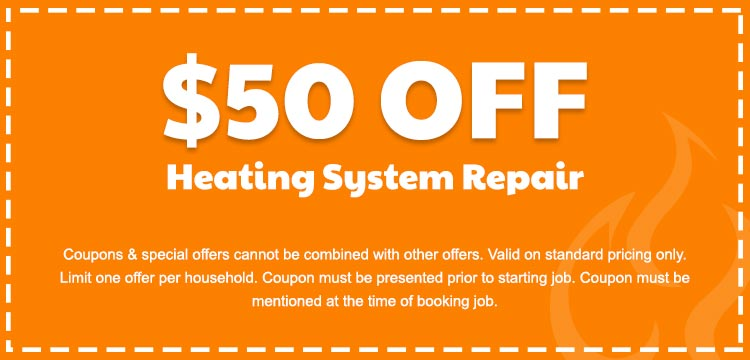 discount on heating system repair services in Edmonton, AB