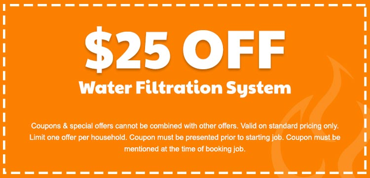 discount on water filtration system services in Edmonton, AB
