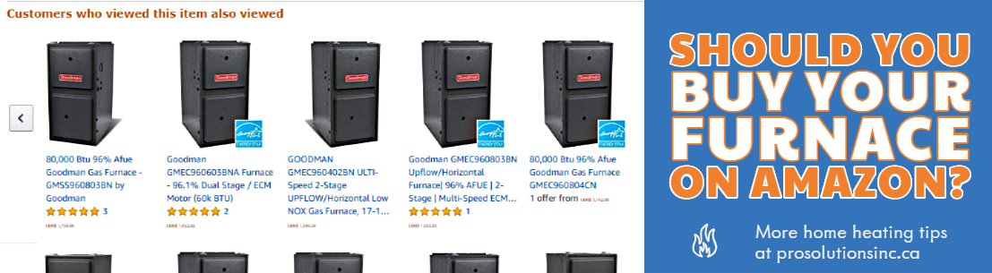 Furnaces for sale on amazon. Goodman, high efficiency models from 60,000-100,000 BTU